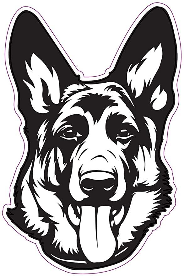 Amazon Com Wickedgoodz German Shepherd Decal Dog Breed Bumper Sticker Perfect Shepherd Dog Owner Gift Auto German Shepherd Art Dog Drawing Animal Stencil
