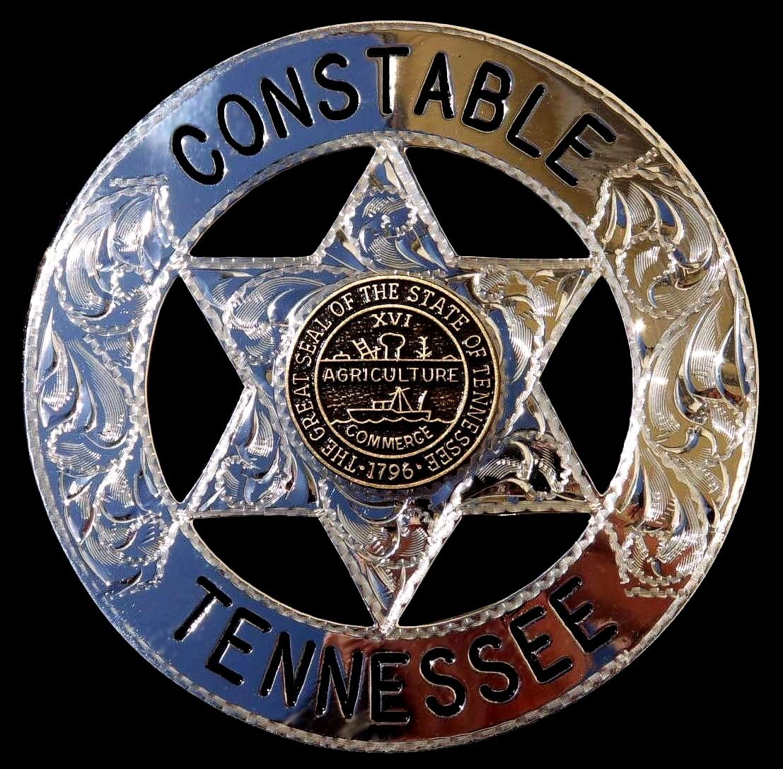 tennessee constable law enforcement badge hand engraved police