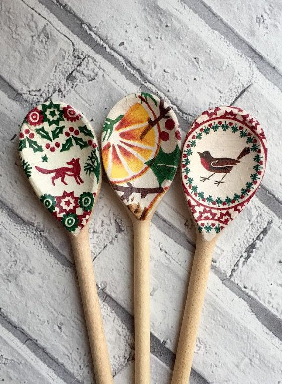 Decorative Wooden Spoons you choose which designs by CreativeMumUK