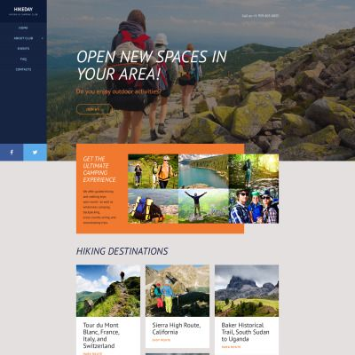 Hiking Web Template Website Template Website Design Web Template