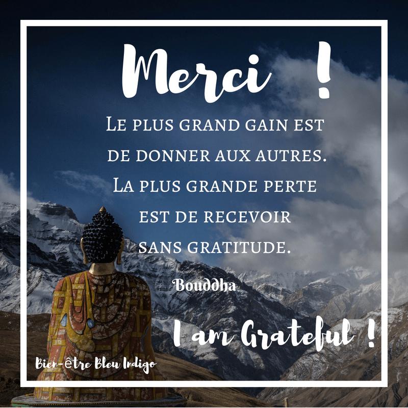 Citation Bouddha Gratitude