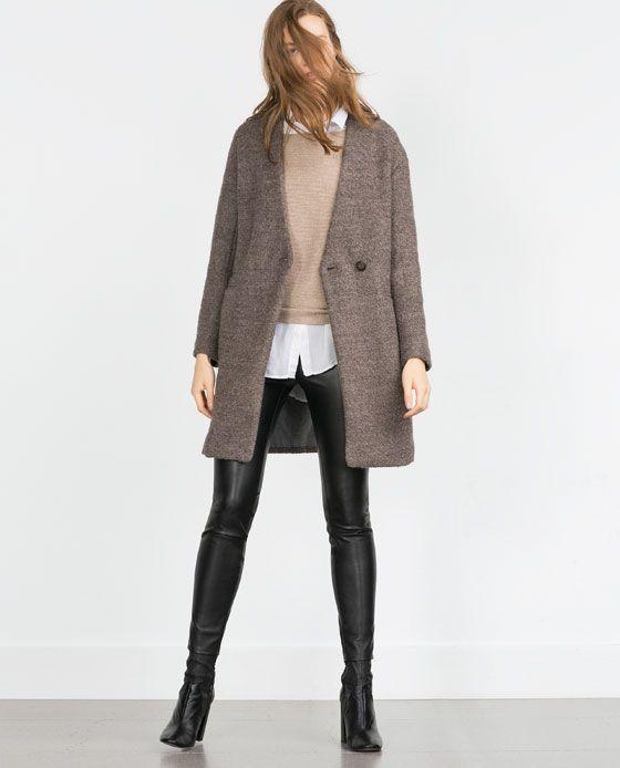 Boucle Wool Coat View All Outerwear Woman Oberbekleidung Frauen Mantel Modestil