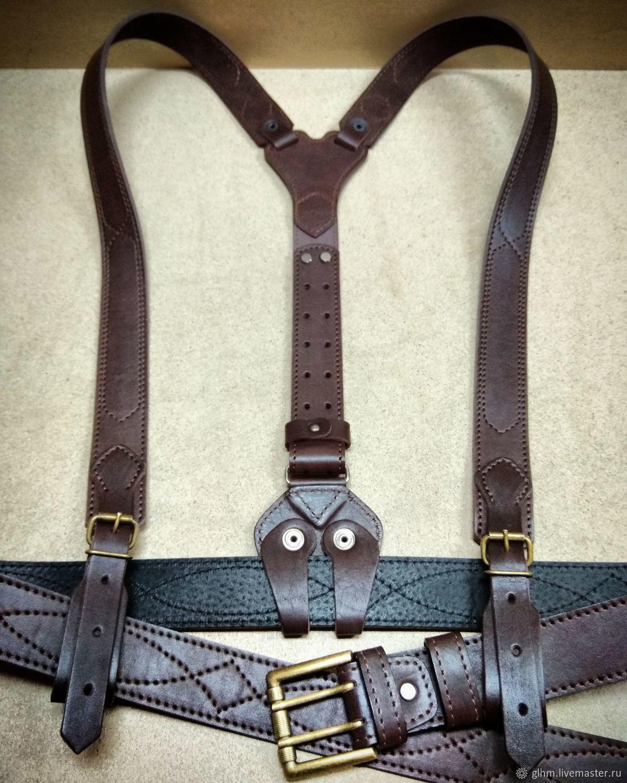 3db021590a70 Подтяжки мужские кожаные. Alexey Stepanoff (glhm). Ярмарка Мастеров.  Подтяжки из кожи