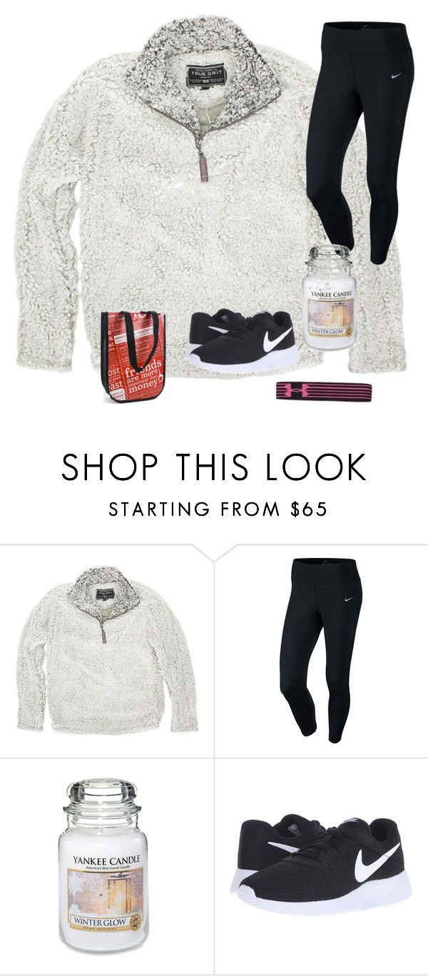 newest 76614 ab910 by zoejm ❤ liked on Polyvore featuring True Grit, NIKE and Yankee Candle