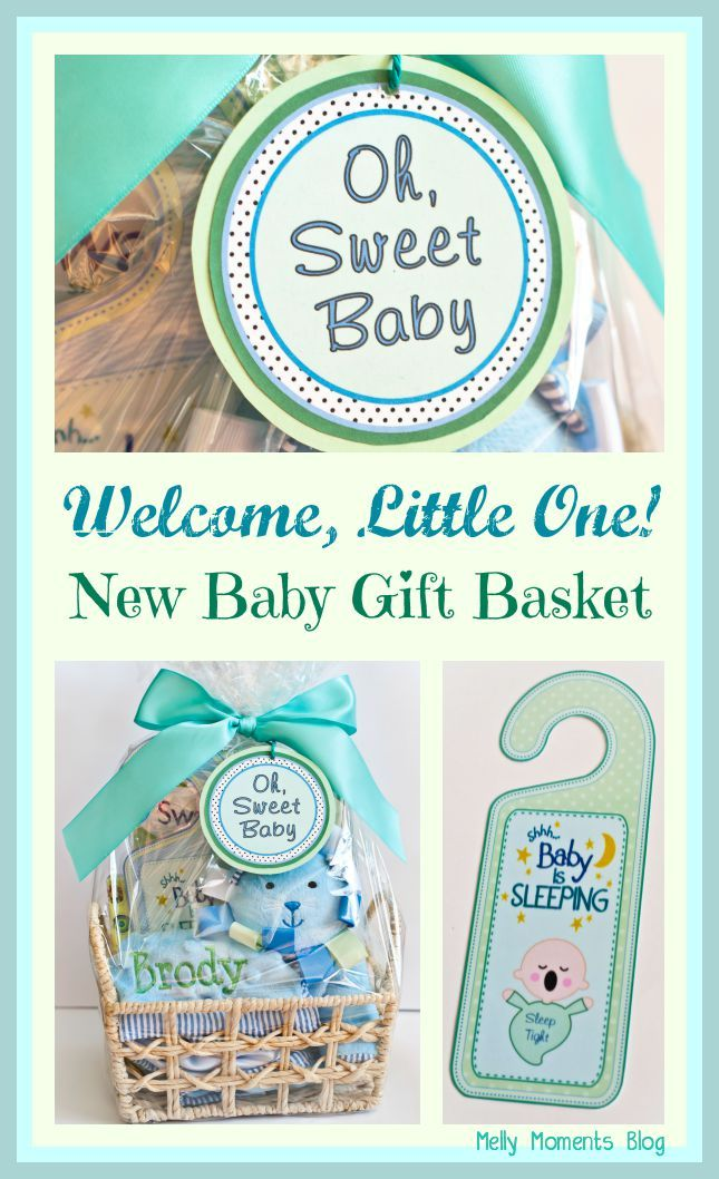 Melly Moments: DIY New Baby Gift Baskets