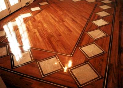 Hardwood Floor Inlays high quality hardwood inlays accents Victorian Inlay Wood Floors Inlays With Brass Accents Embellish This Brazilian Cherry
