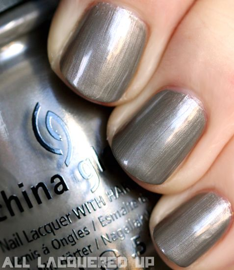 China Glaze Capitol Colours The Hunger Nail Polish Collection Swatches District 4 Fishing Pewter Metallic