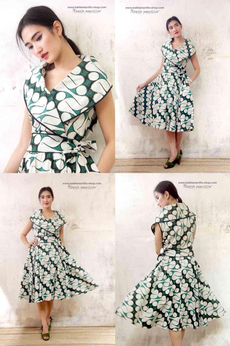 Model maxi dress batik panjang