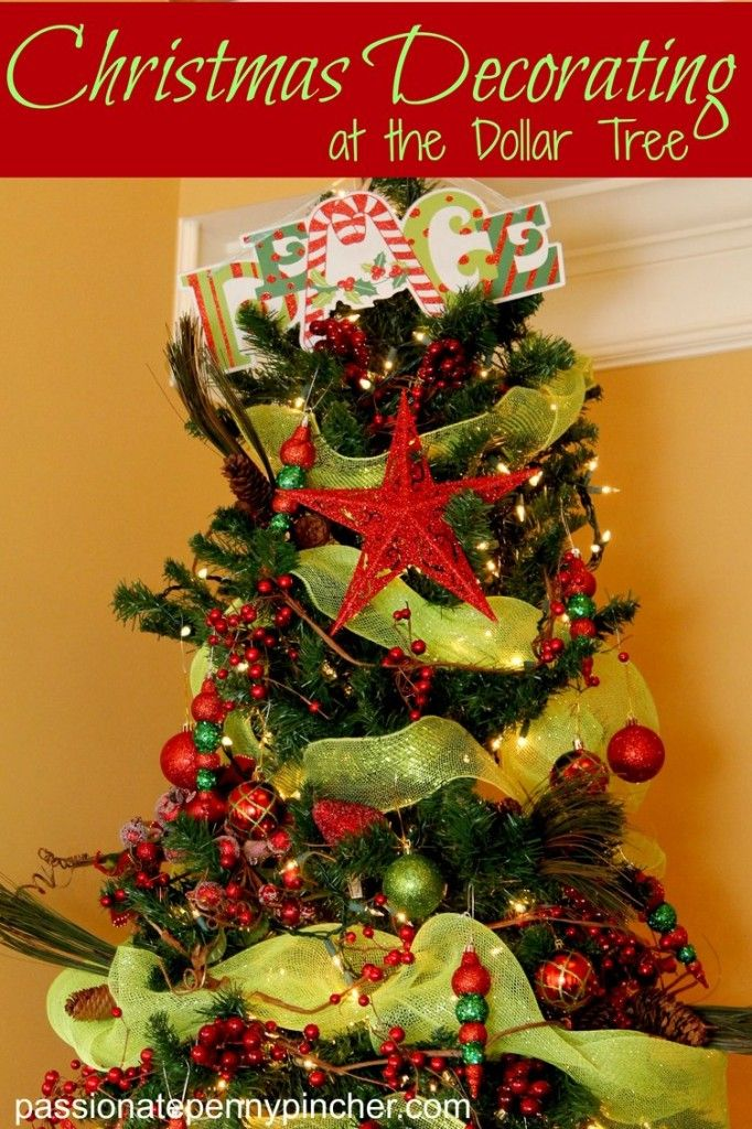christmas decorating at the dollar tree - Cheap Christmas Trees For Sale