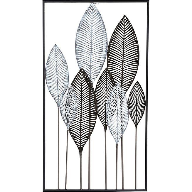 Plumes Décoration murale feuilles en métal 95x5250cm