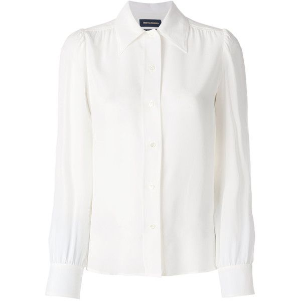 2b73967fadf4 Vanessa Seward button-down fitted blouse (5.703.710 IDR) ❤ liked on  Polyvore featuring tops