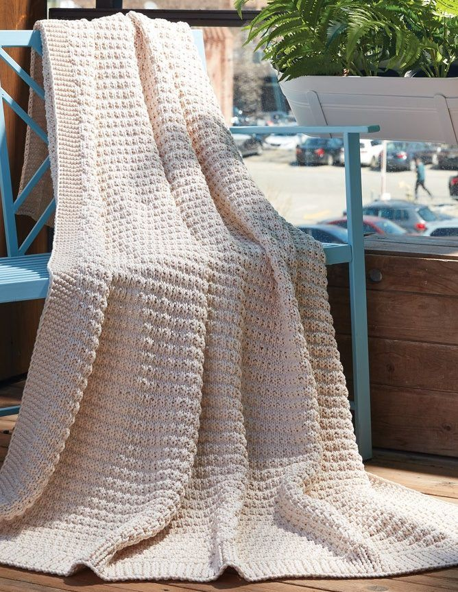 Easy Afghan Knitting Patterns | Chunky yarn, Warm weather and Knit ...