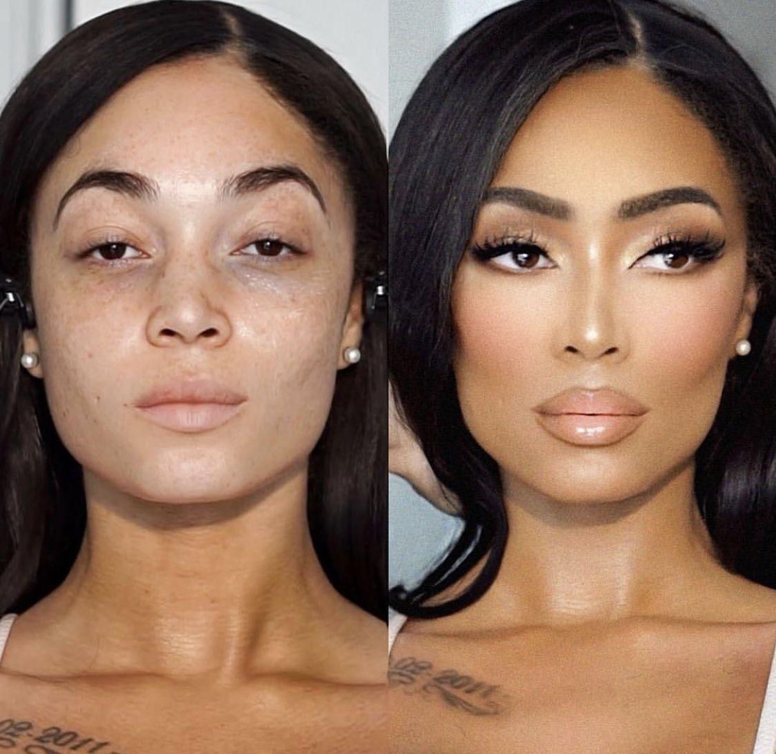 Face sculpting airbrush look neutral makeup
