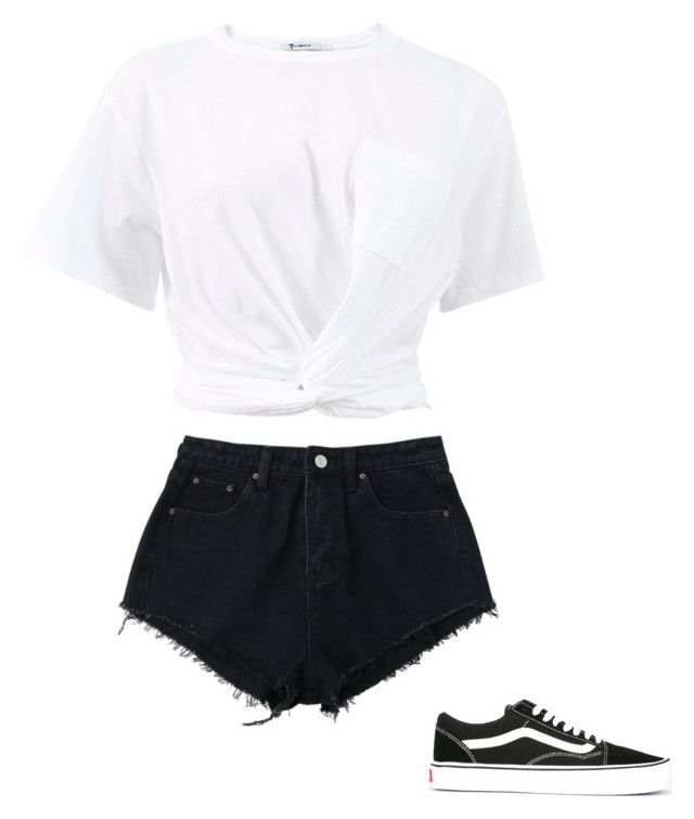 """""""Untitled #19"""" by ellismarley on Polyvore featuring T By Alexander Wang and Vans"""