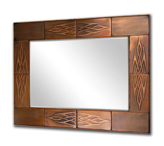 Framed antique mirror, Wooden frame with metal, Metal mirror frame ...