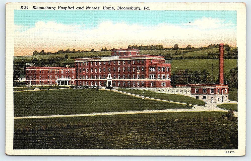Postcard PA Bloomsburg Hospital & Nurses Home