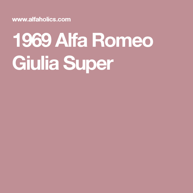 Alfa Romeo Giulia, New Luxury