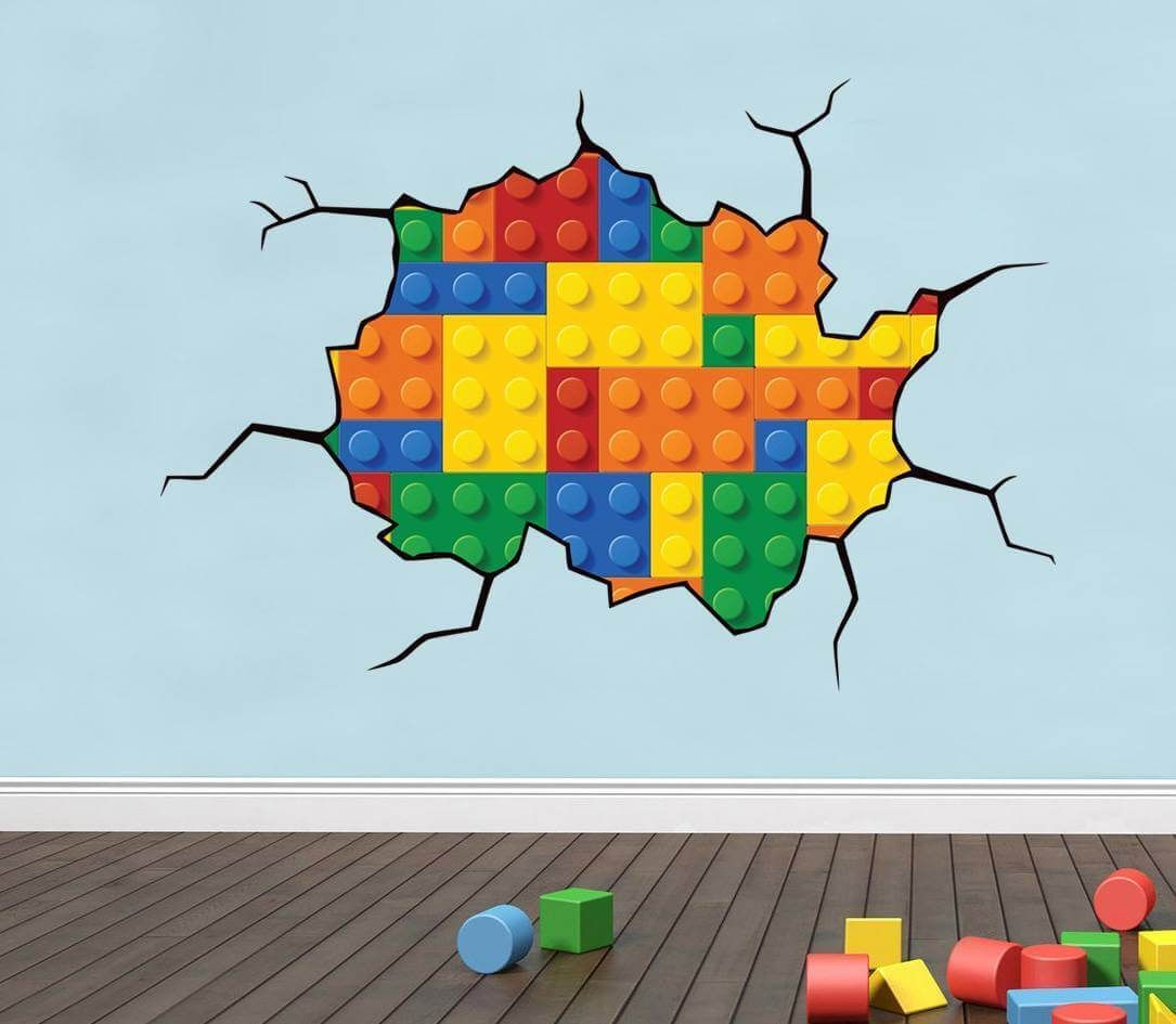 Lego wall decals unique and creative home interior background with lego themes are for sure
