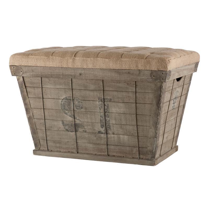 burlap ottoman furniture