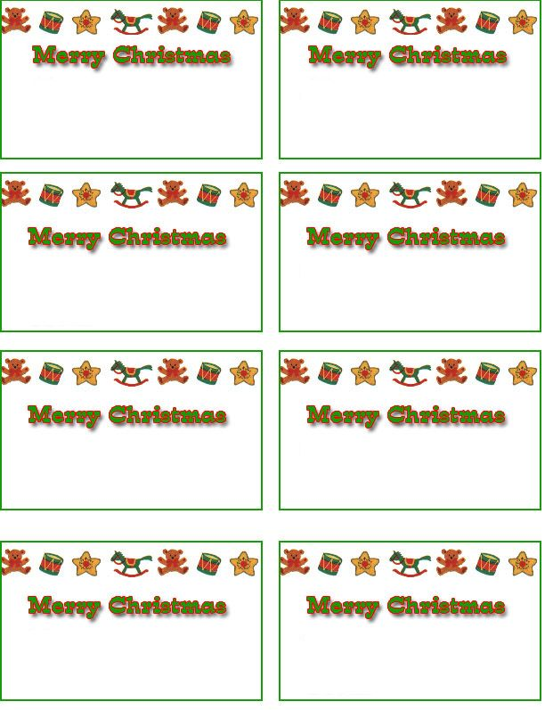 Free Printable Christmas Cards | free Christmas name tags, free ...