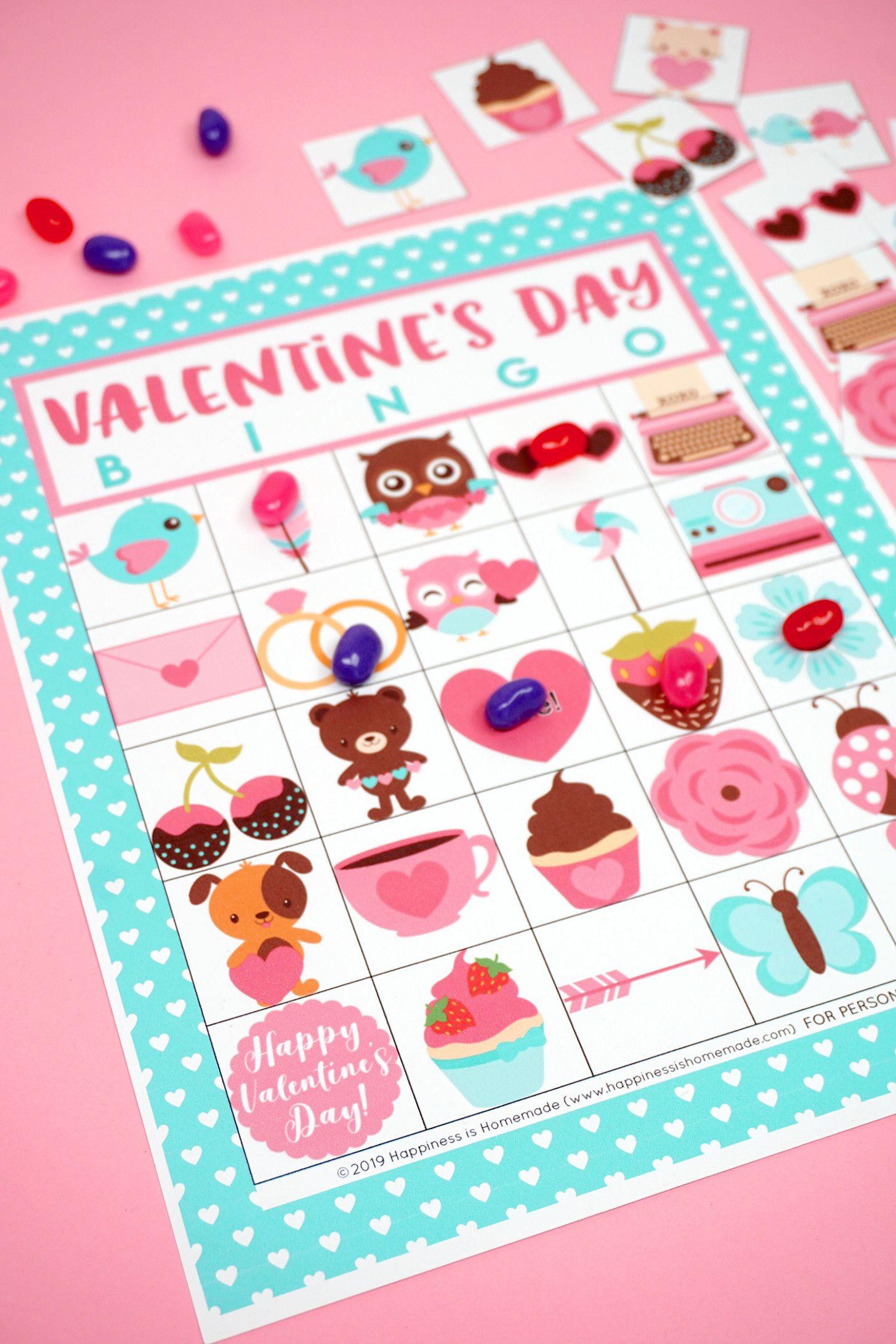 Valentine Bingo Card In