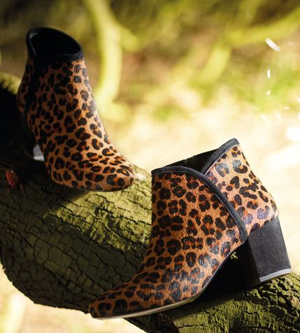 a8db6317f93467 AW15 - Tigerlily soft leopard hair   suede ankle boots by fairytale fitters  Ted Muffy.