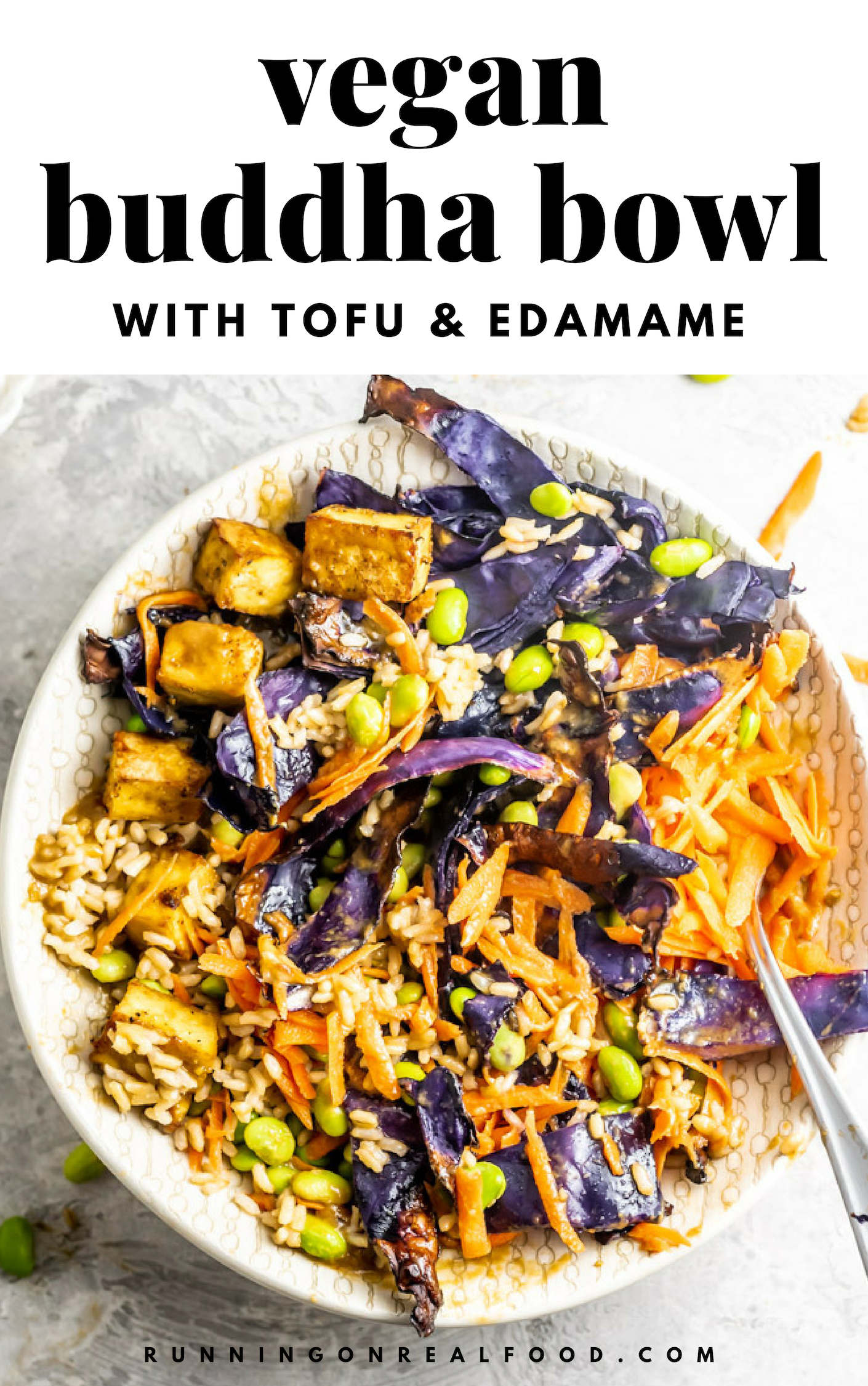Tofu Edamame Bowls With Cabbage And Carrot