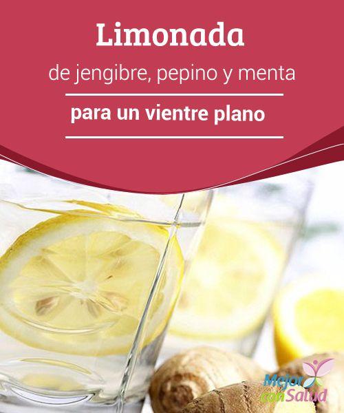 Agua de limon pepino y menta para adelgazar