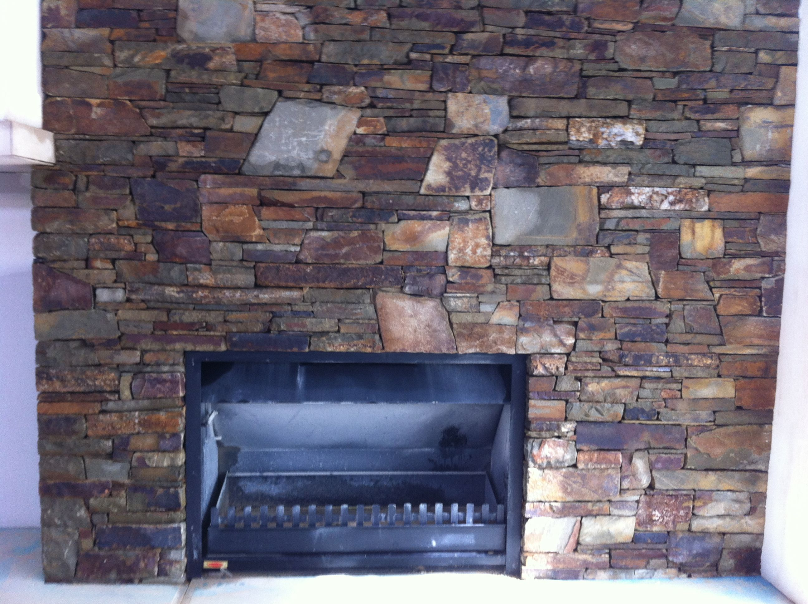 Castlemaine Slate Stone Fireplace