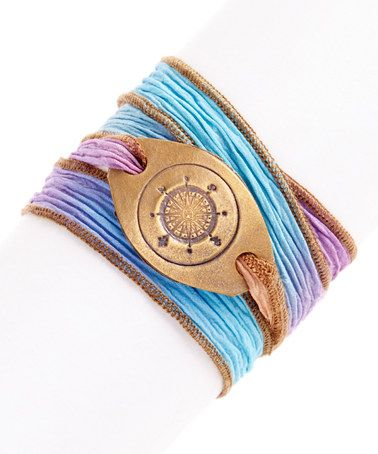 Love this Firefly Compass Silk Wrap Bracelet on #zulily! #zulilyfinds