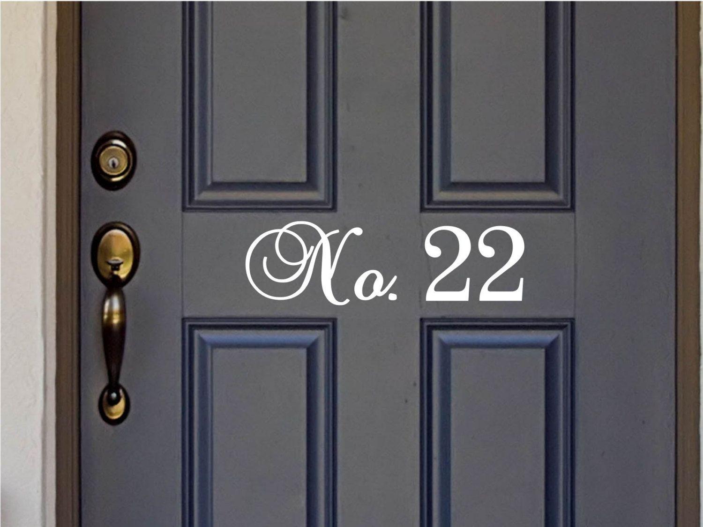 custom house number vinyl door decal front door decals home