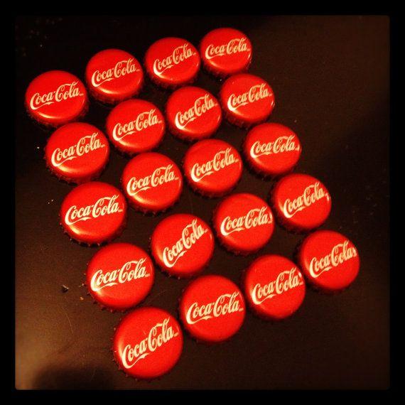 Set of 20 Coke Bottle Caps Coca-Cola Bottle Caps by KinseysCorner