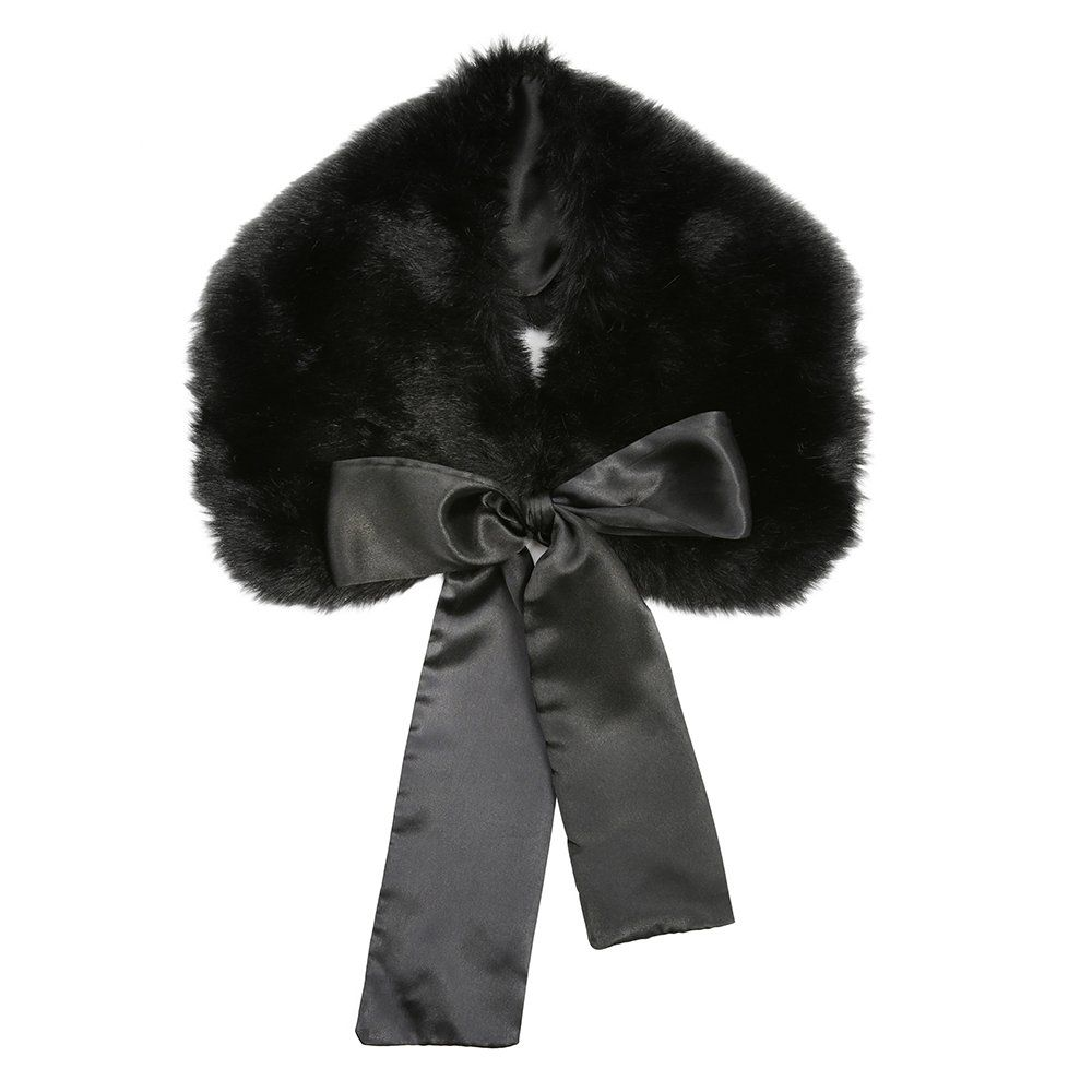 100af2063845 Cally Black Faux Fur Collar   Vintage Style Accessories - Lindy Bop ...