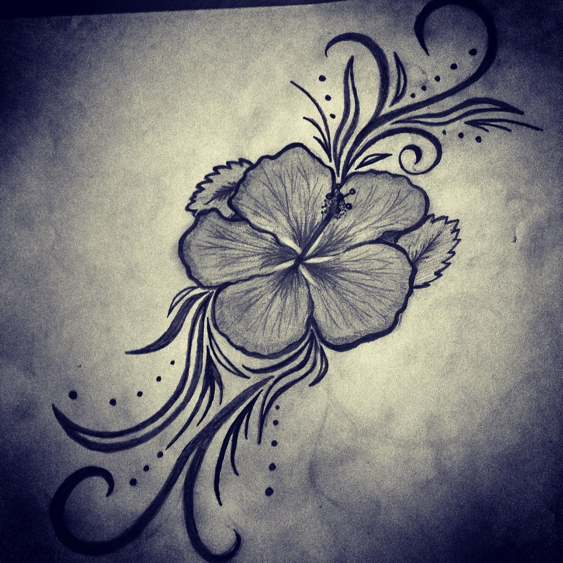 cute hibiscus tattoo made by janica paquette art work. Black Bedroom Furniture Sets. Home Design Ideas
