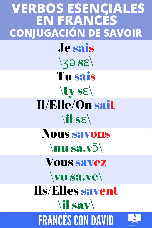 Cómo Conjugar El Verbo Savoir Tercer Grupo En Francés Audio 2 Bases Sai Sav Video En 2021 Aprender Francés Verbos Conjugar Los Verbos