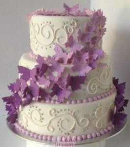 Wedding Cake Papillons Cakedreams Bday Theme Decorations