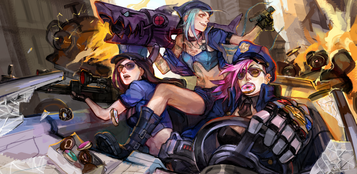 Jinx League Of Legends Vi League Of Legends Caitlyn League Of Legends Wallpaper Jinx League Of Legends League Of Legends Vi League Of Legends