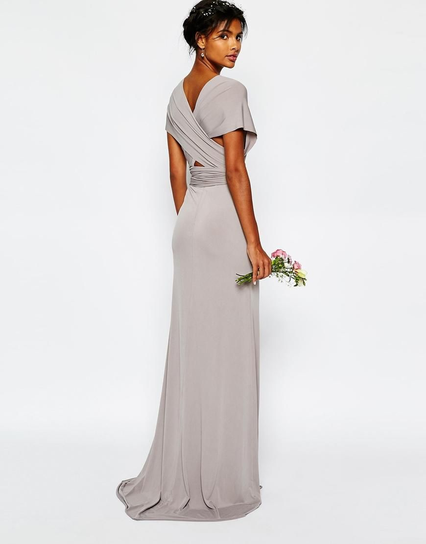 Tfnc Multiway Fishtail Maxi Dress Asos 48 Available In Navy Weddinggrey