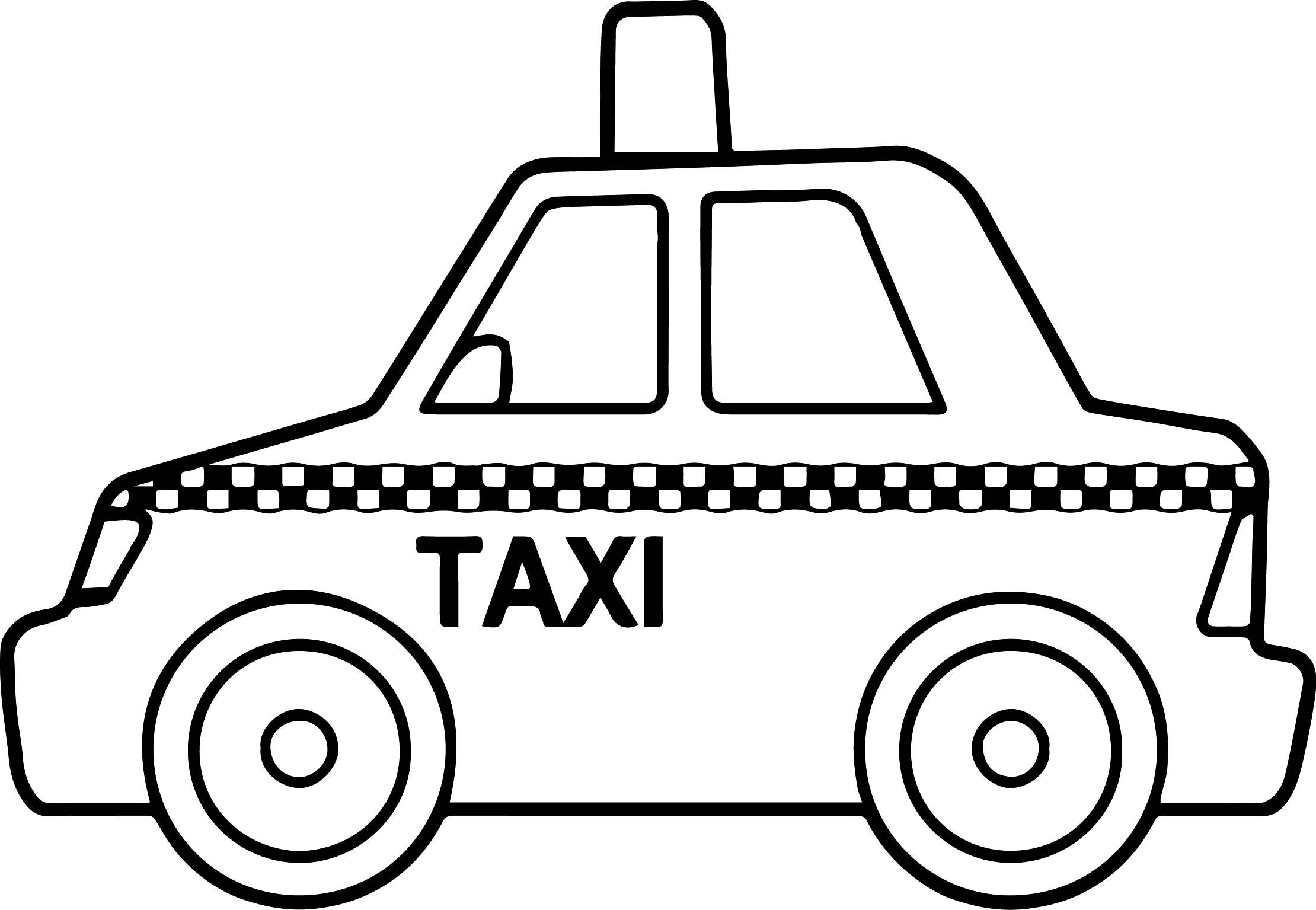 awesome Basic Taxi Toy Car Coloring Page Cars coloring