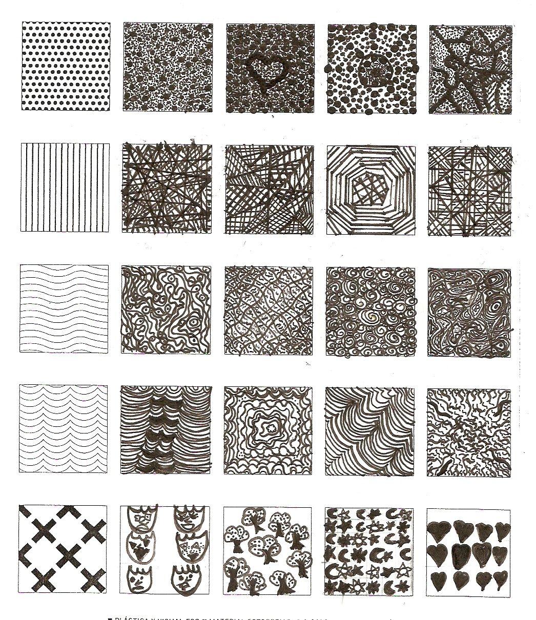 Creacion Texturas Graficas 1º Eso Texturas Texturas Visuales Texturas Dibujo