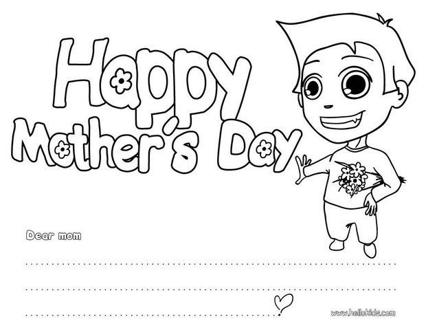mothers day coloring pages i love you mom