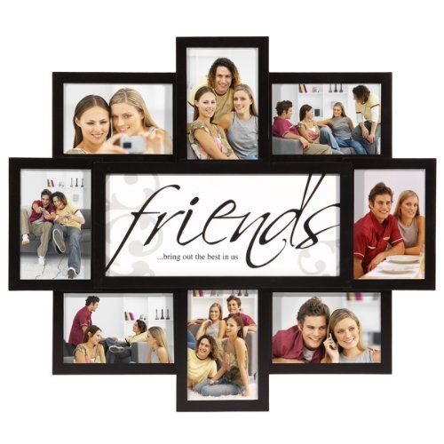 Friendship Picture Frames With Quotes: Nexxt PN19664-5 Felicite Series Black Collage Frame