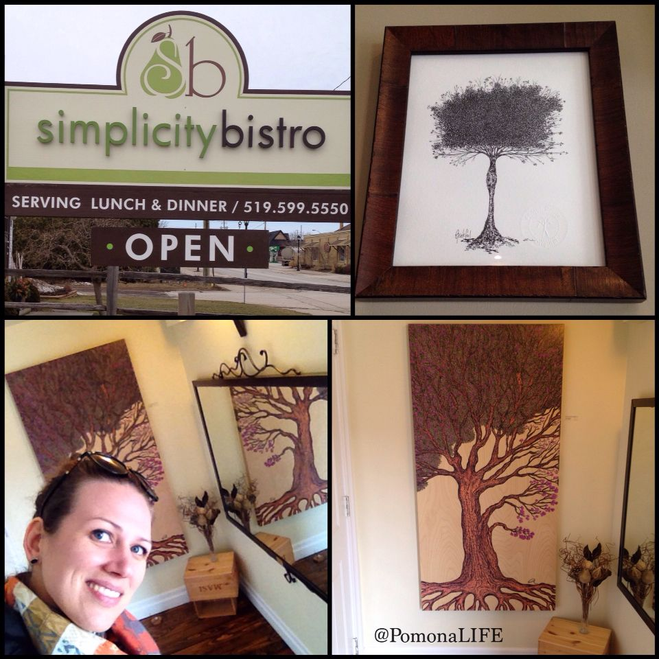 The roads are clear and the skies blue! Great weekend to take in the country air. Find your eyes and appetite enjoying the flavours at Simplicity Bistro in Thornbury, ON.  Art is delicious x~a. #acurrie #creatinglifeart #pomonalife #mylifewithapen  Simplicity Bistro  81 King St E, Thornbury, ON N0H 2P0 Reserve your country dining experience today at:  1 (519) 599 5550  #torontoartist #georgianbay #thornbury #restaurant #ontariotravel #countryfresh #art #treeart #treelove #treeartist…