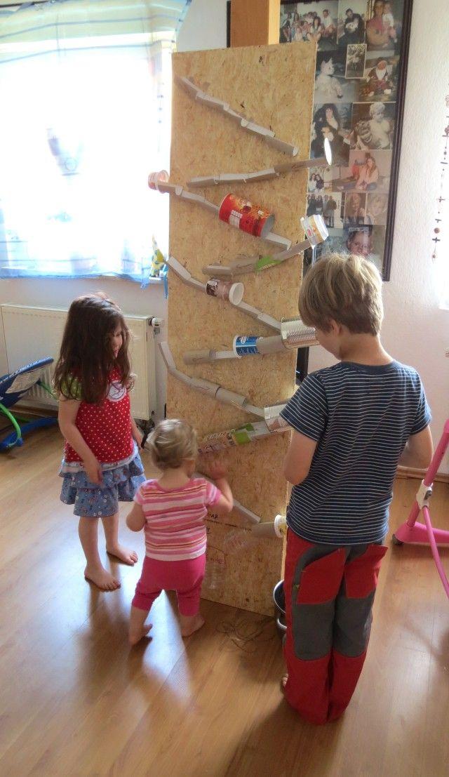 rasselbande kugelbahn deluxe konstruieren pinterest kindergarten upcycling and. Black Bedroom Furniture Sets. Home Design Ideas