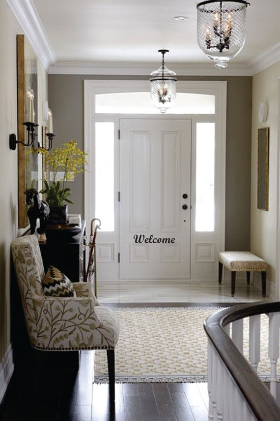 Mudroom Addition To Front Of House Yahoo Search Results: WELCOME Vinyl Front Door Decal By Embellishboutiquellc On Etsy