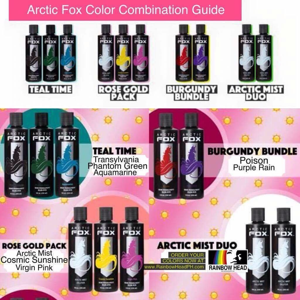 Arctic Fox Color Combination Guide Arctic Fox Hair Dye Arctic Fox Color Fox Hair Dye