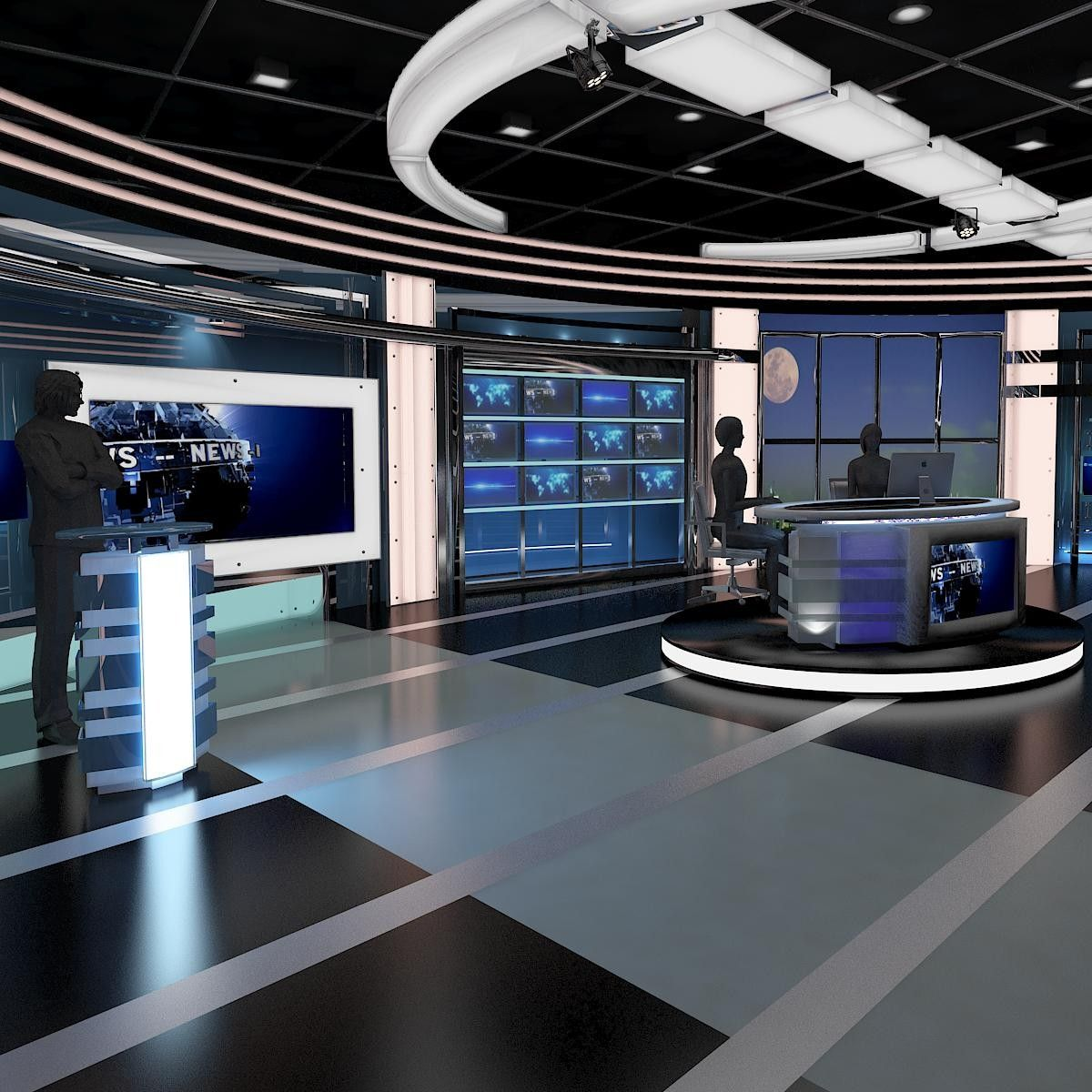 Max tv virtual stage news studio 3d virtual stage tv for 3d virtual room designer