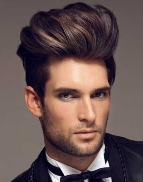 Longer Natural Hair Slick Pomp Men S Hairstyle Trends