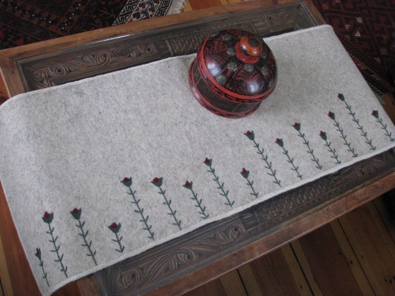 felted table runner - Google Search