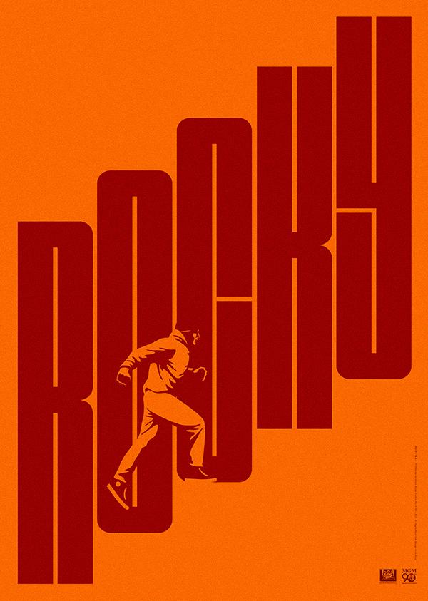 Minimalist Movie Poster Rocky Minimalistyczne Plakaty Filmowe Plakaty Vintage Plakaty Filmowe